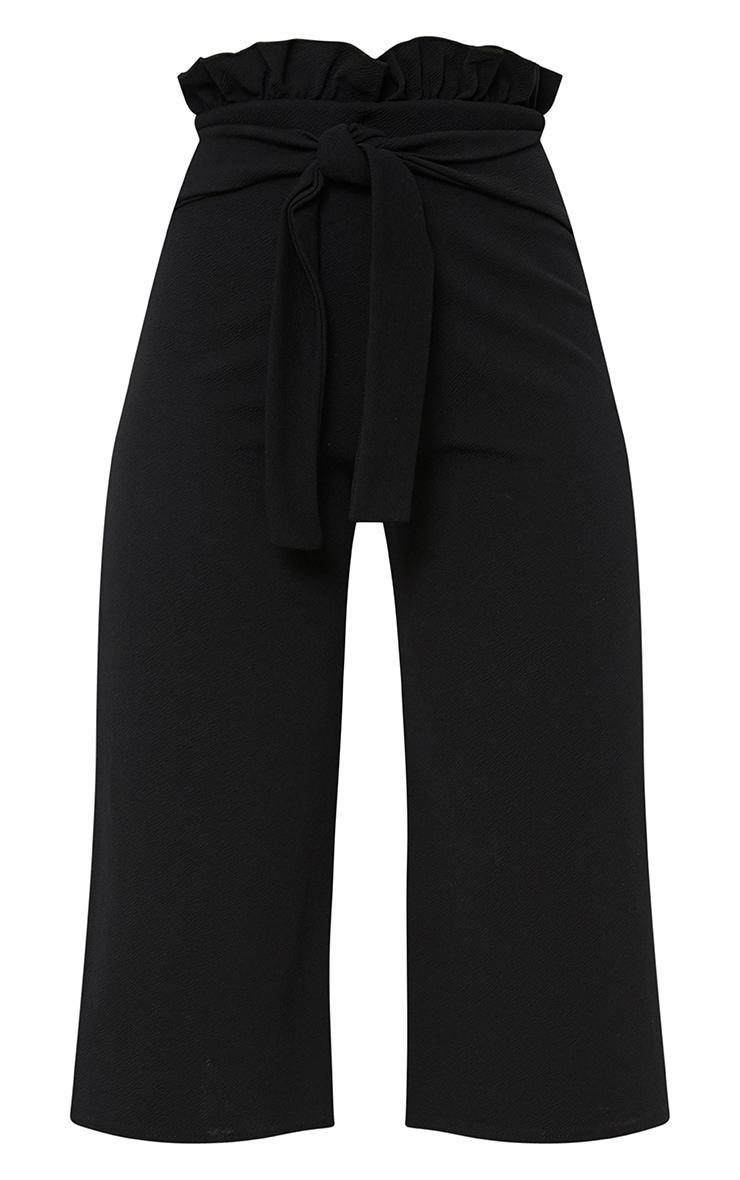 Jupe-culotte noire froncée 3