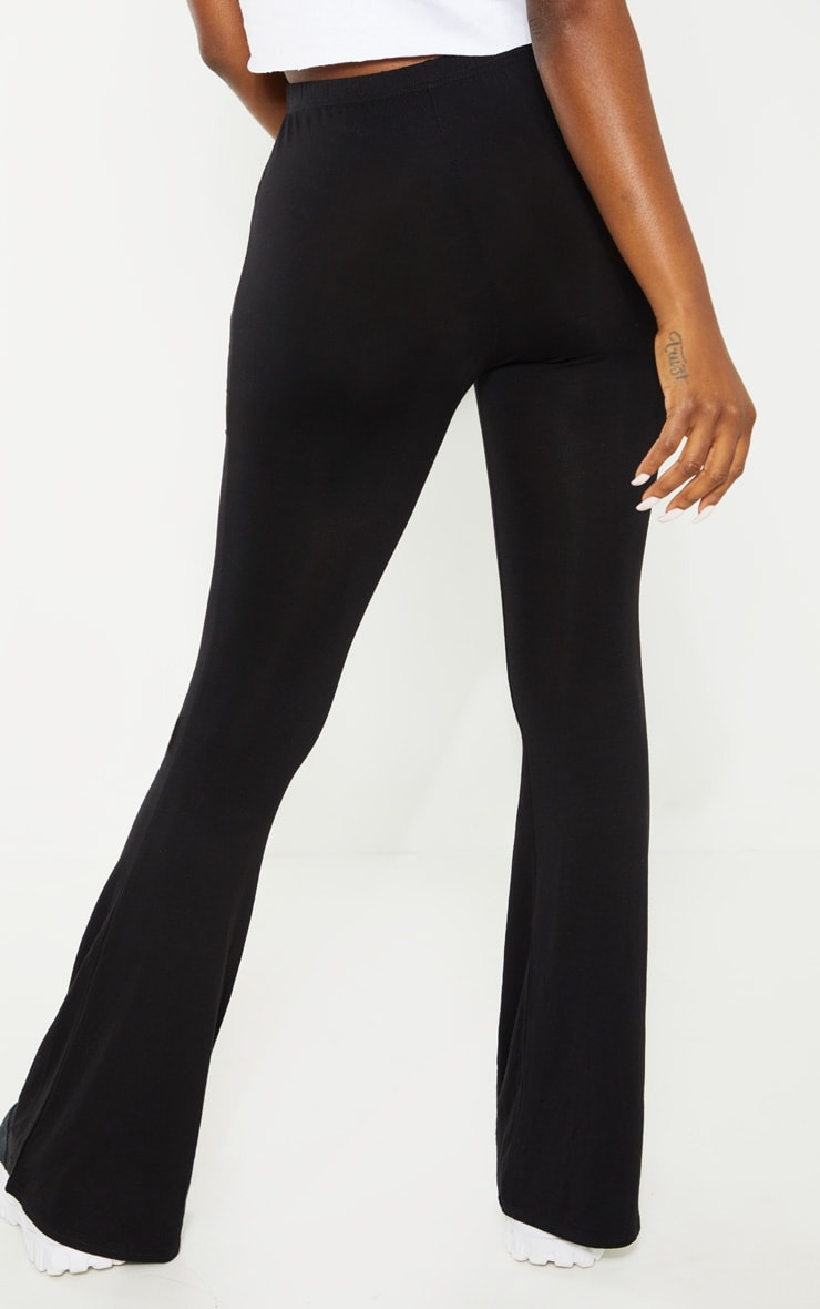 Petite Black Basic Flare Leg Trousers 4
