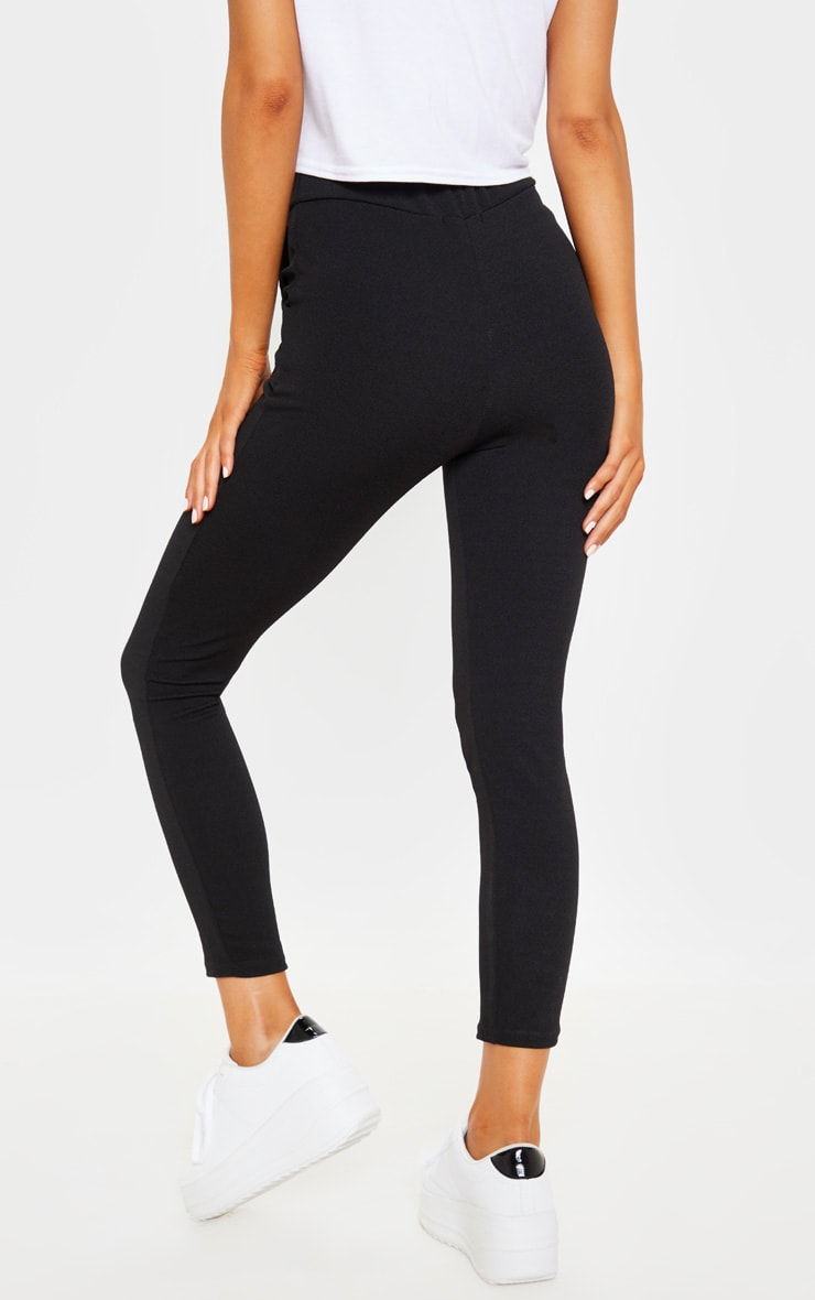 Black Crepe Skinny Pants 4
