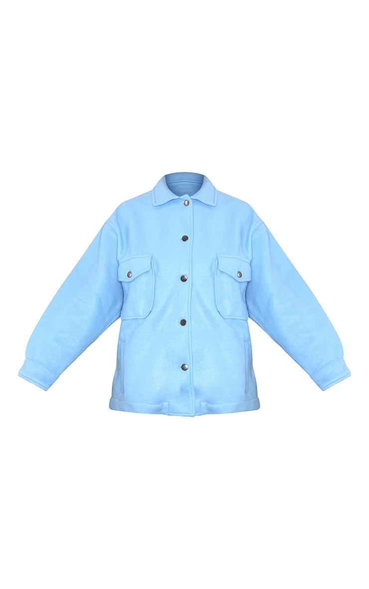 Blue Pocket Front Shacket 5