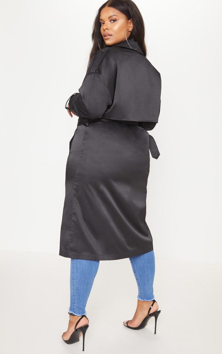 Plus Black Trench Coat 2