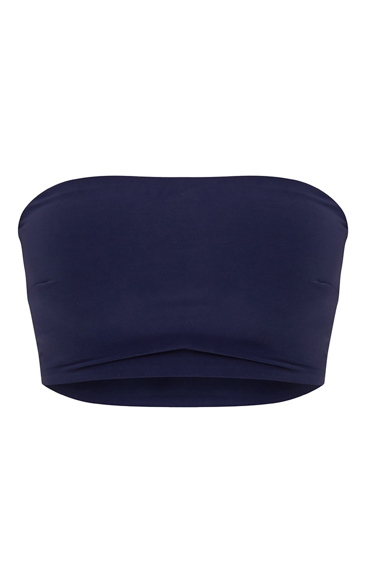 Shape Navy Bandeau Crop Top 3