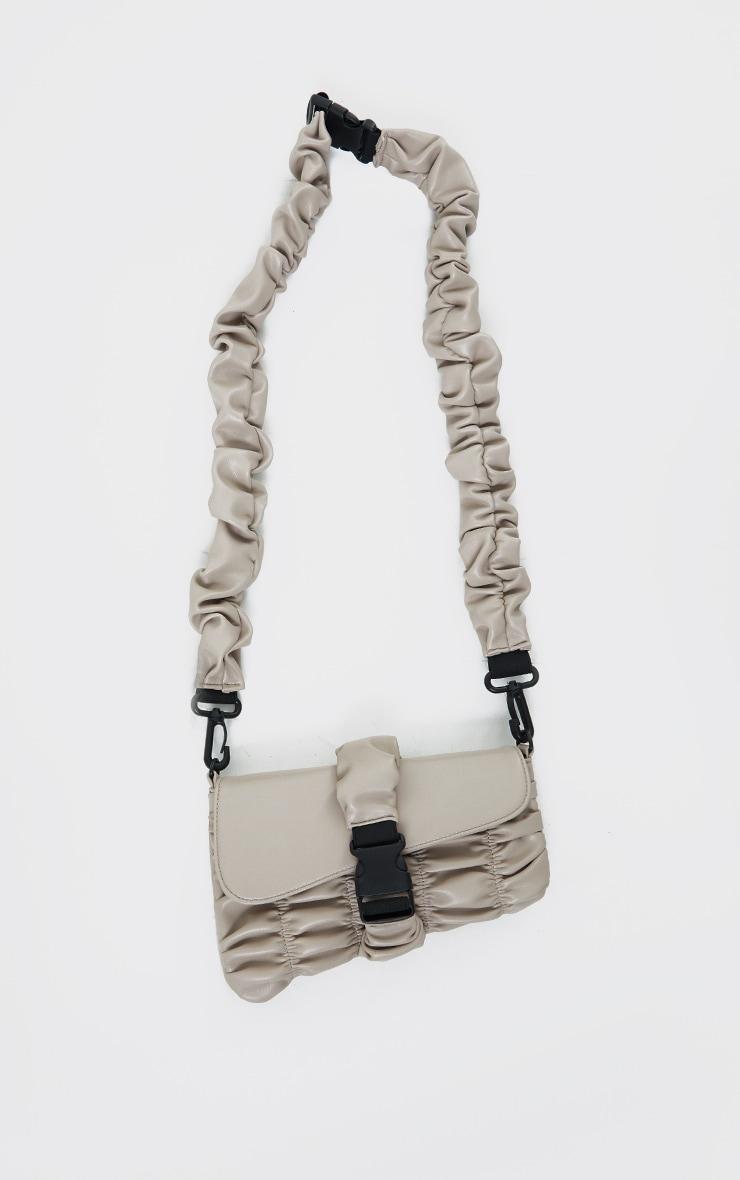 Stone Ruched PU Cross Body Bag 2