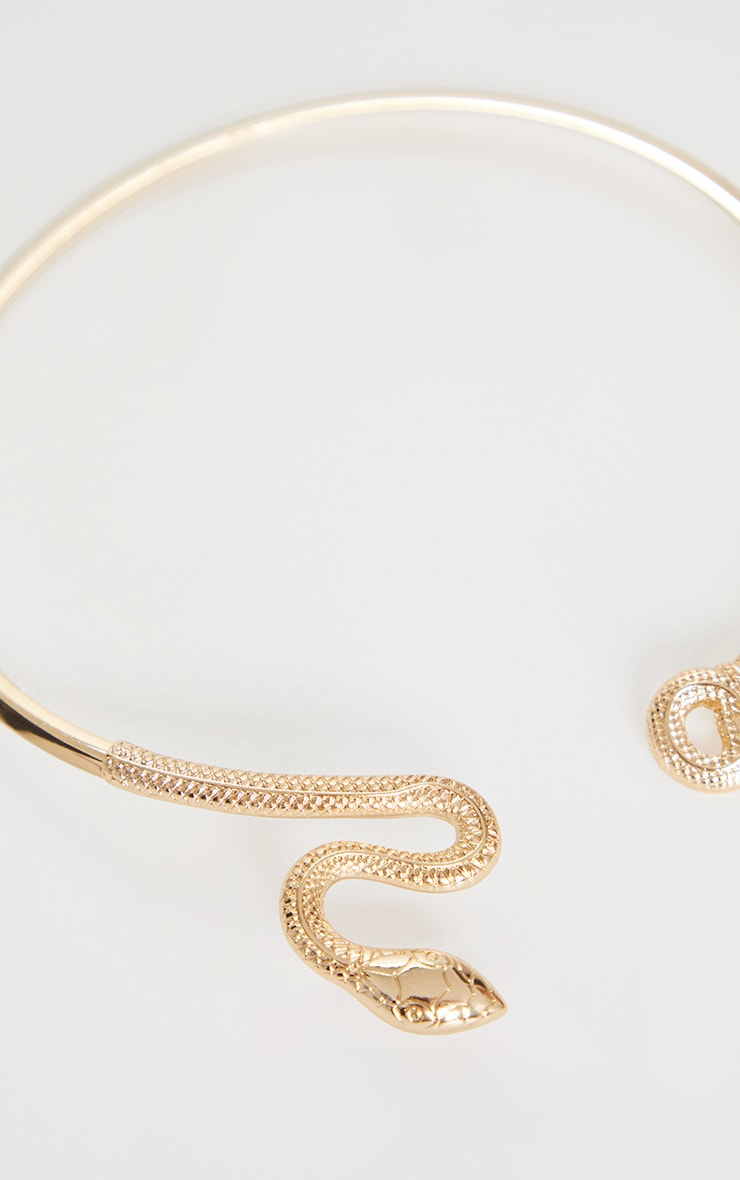 Gold Oversized Snake Choker 3