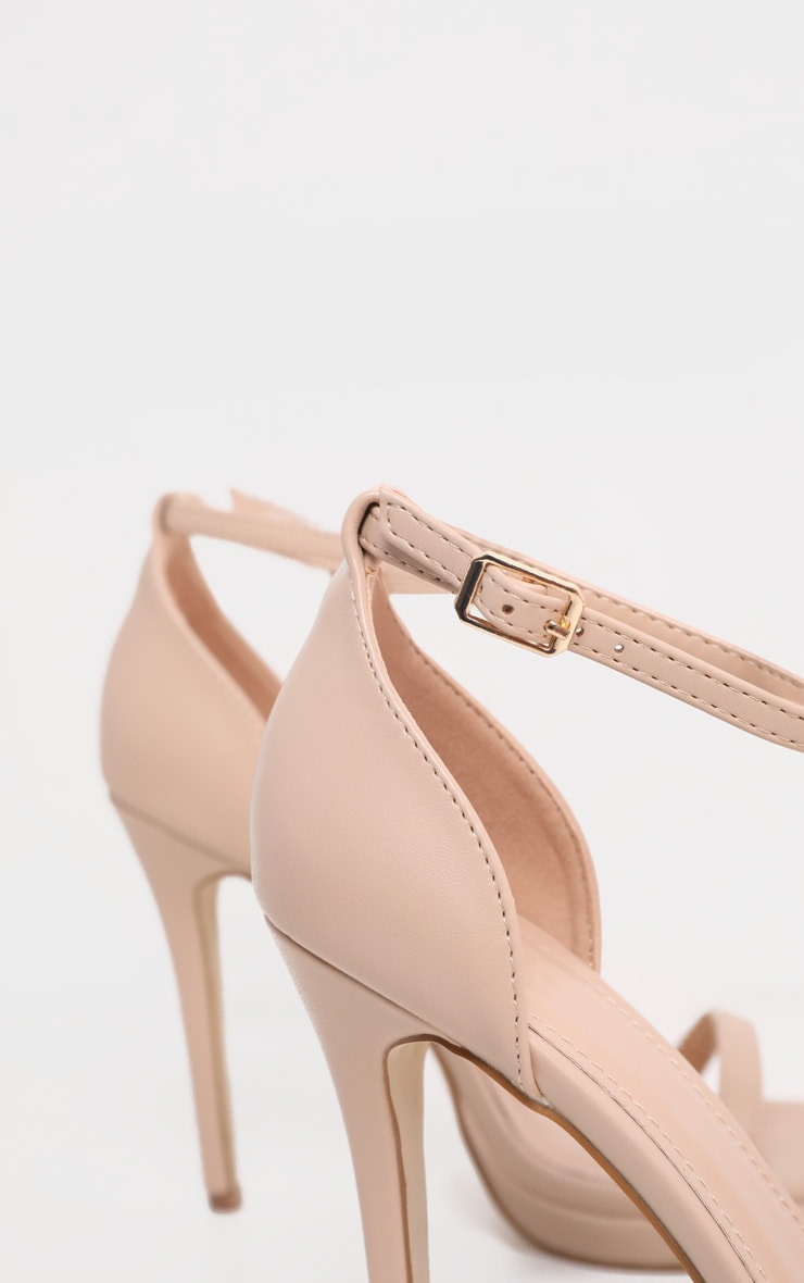 Enna Nude Single Strap Heeled Sandals 5