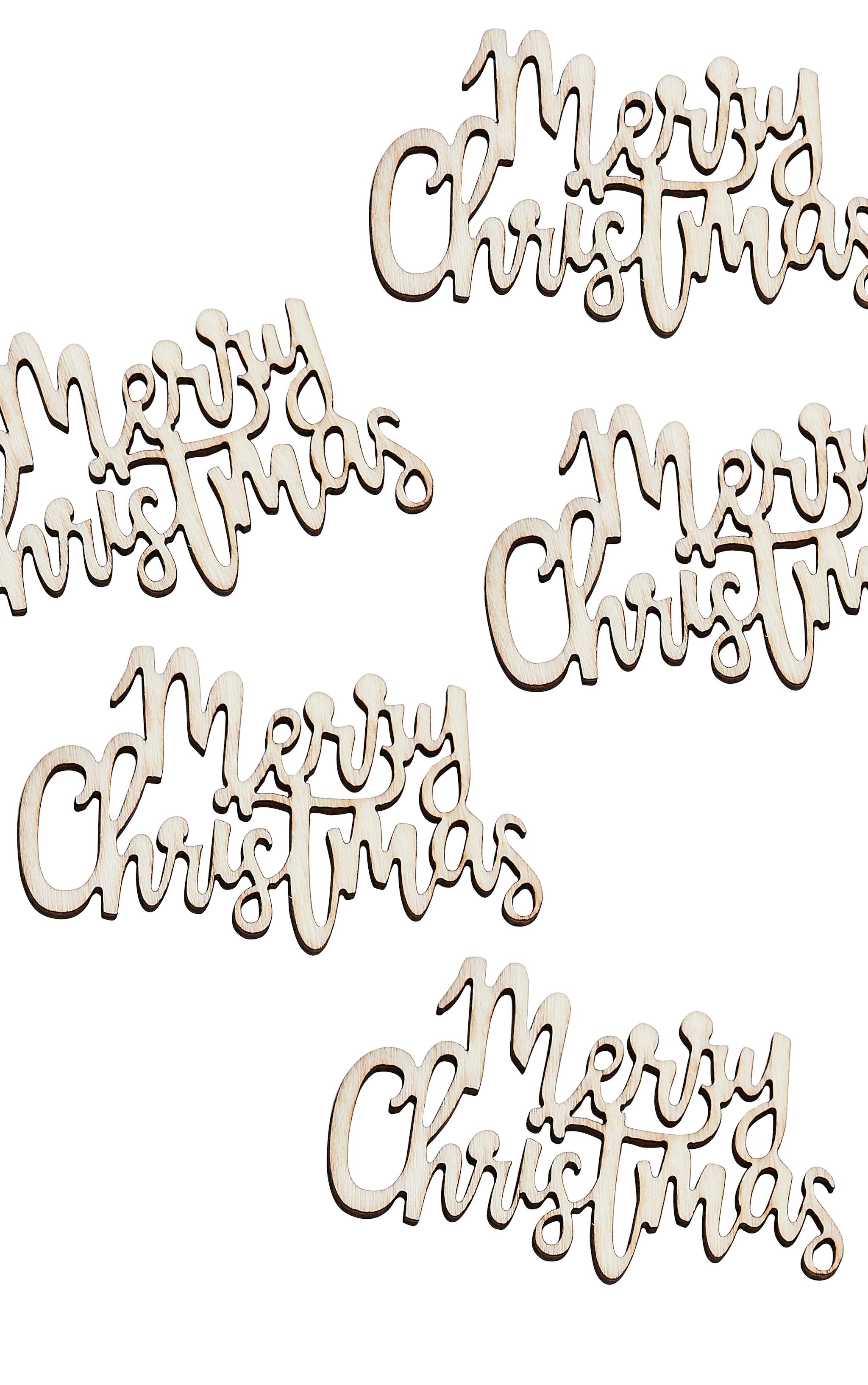 Ginger Ray - Confettis en bois Merry Christmas 2