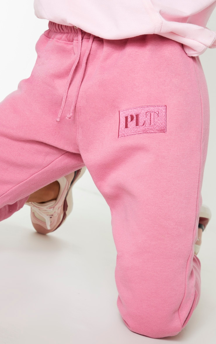 PRETTYLITTLETHING Pink Logo Joggers 5