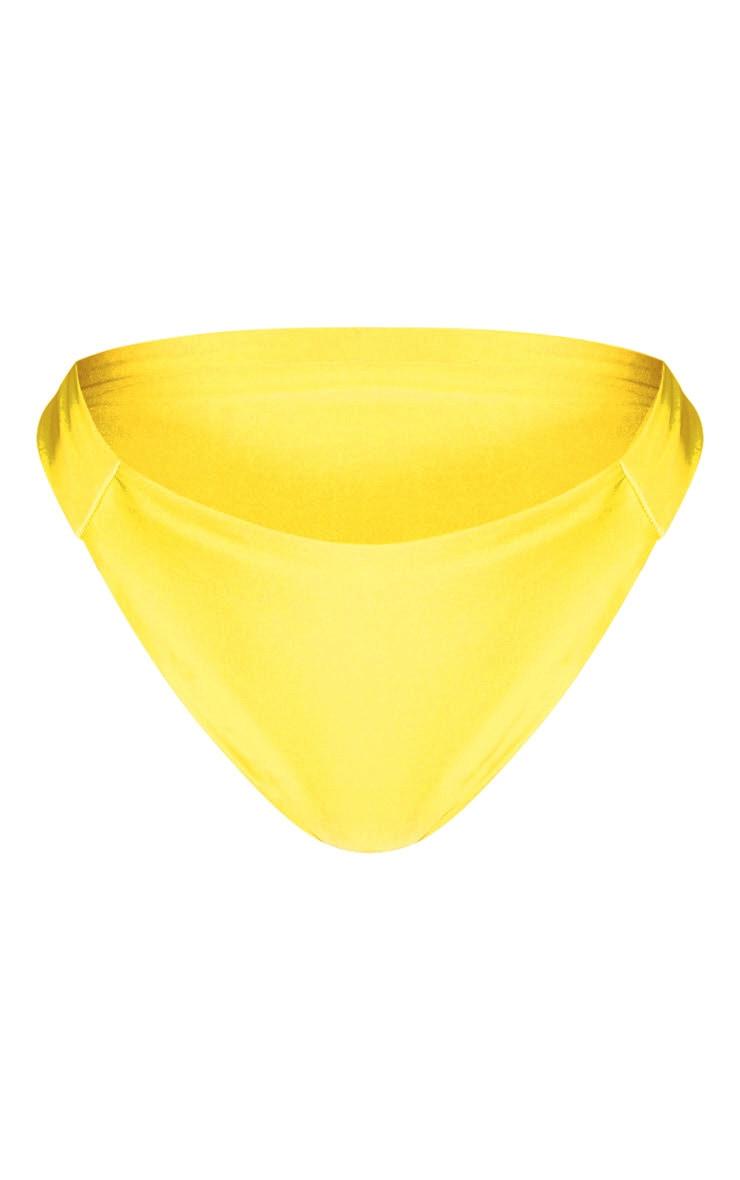 Shape Bright Yellow Seam Detail Bikini Bottom 3