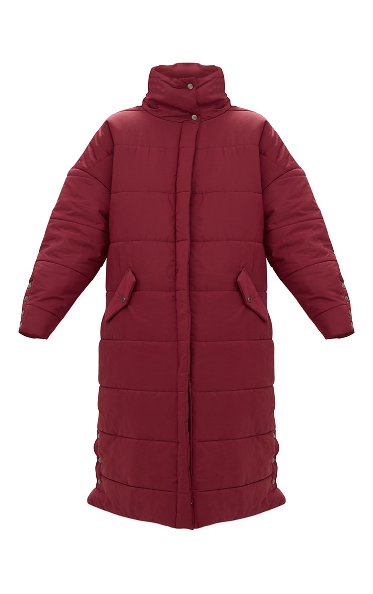 Premium Burgundy Longline Puffer Jacket 3