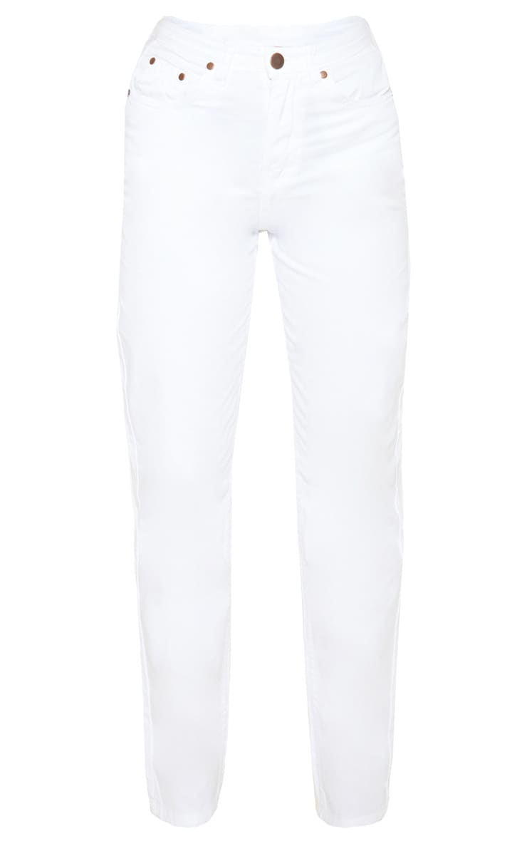 White High Waist Mom Jeans 3