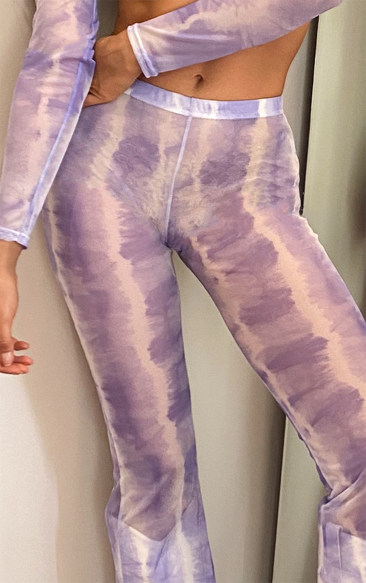 Tall Purple Tie Dye Mesh Flares 4