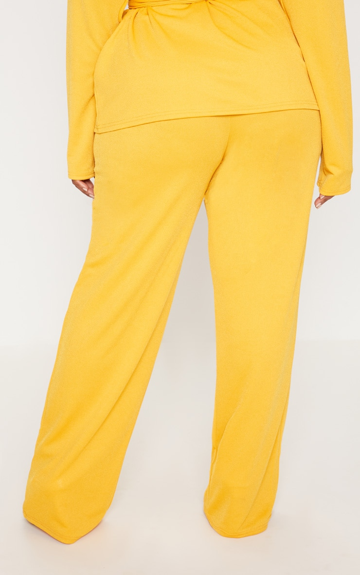 Plus Yellow Wide Leg Trousers 4