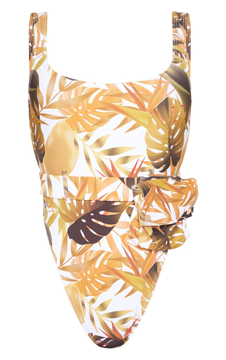Mustard Leaf Utility Belt Swimsuit 3