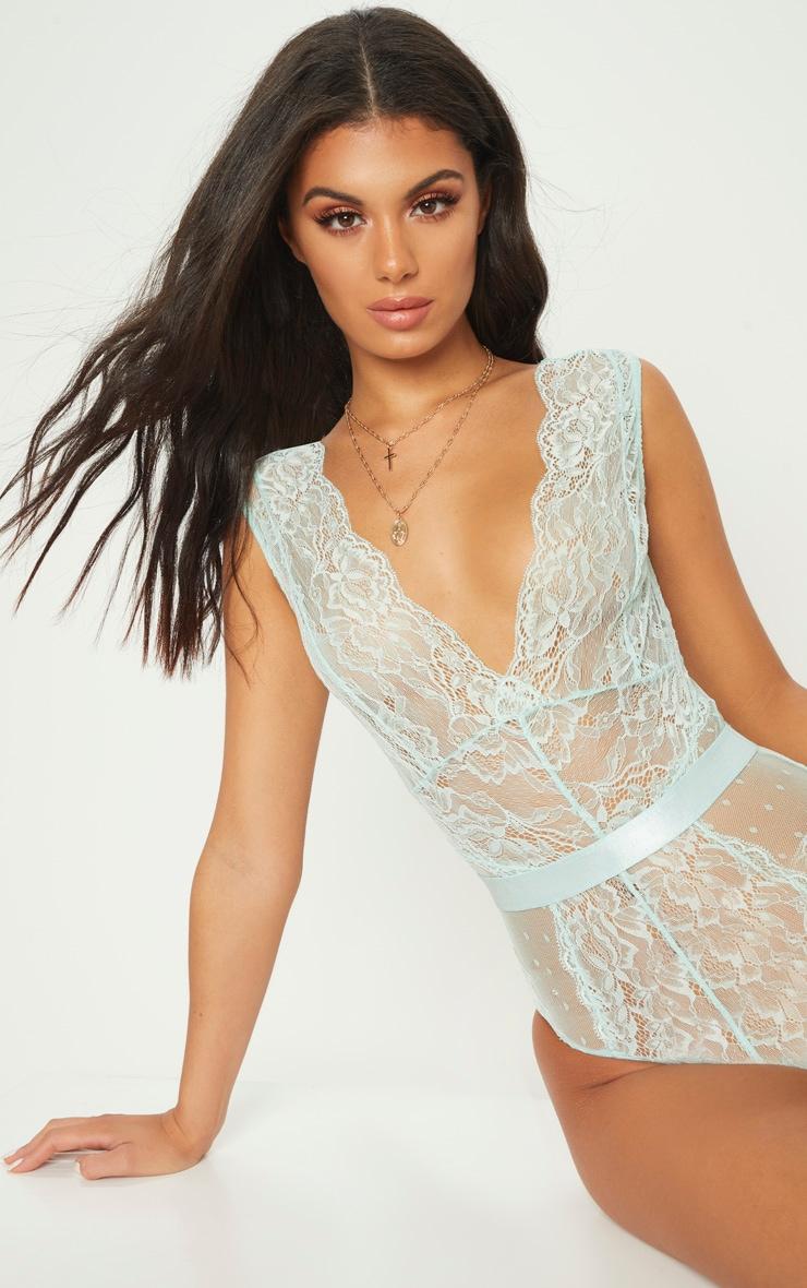 Mint Lace Bodysuit 2