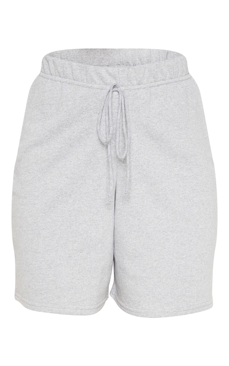 Grey Longline Sweat Shorts 3