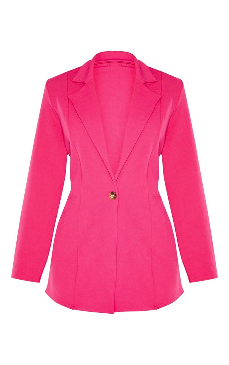Bright Pink Oversized Boyfriend Blazer 3