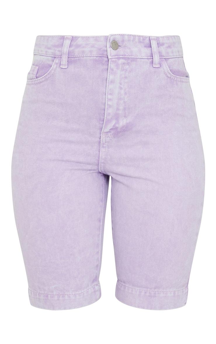 Lilac 5 Pocket Cycling Shorts 6