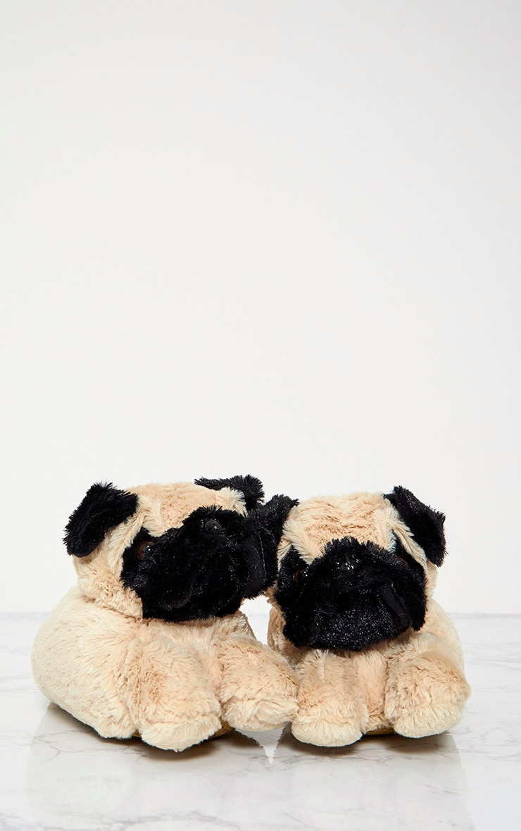 Brown Pug Slippers 6