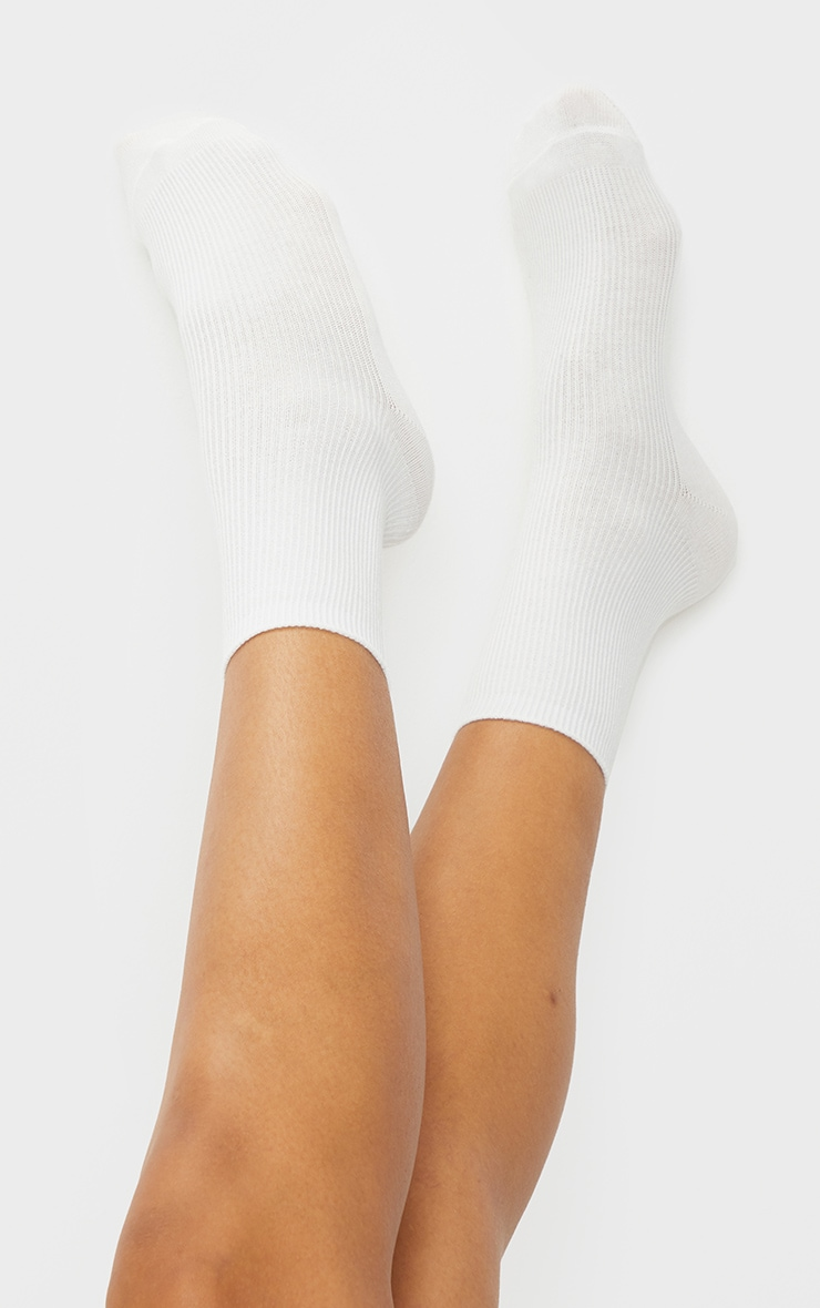 Black and White Two Pack Sports Socks 2