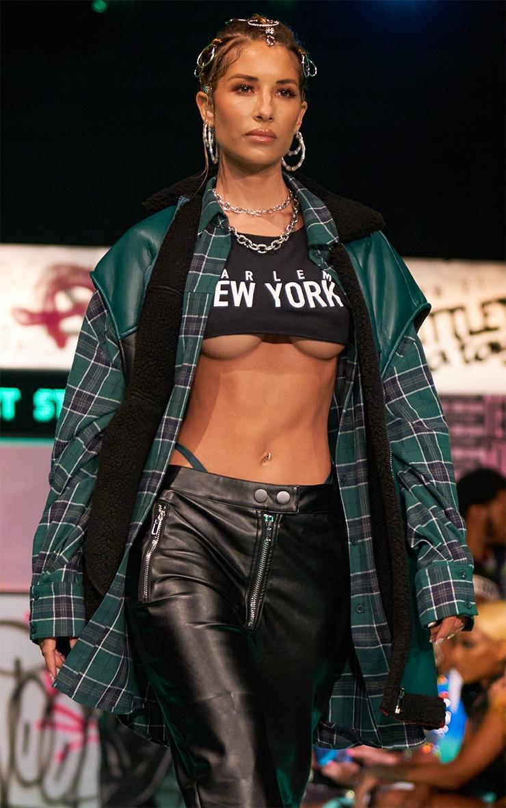 Green Unisex Check Flannel Oversized Shirt 1