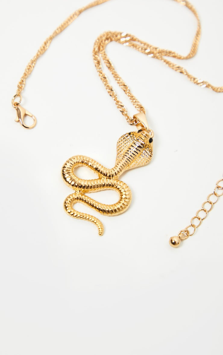 Gold Pendant Snake Necklace 4
