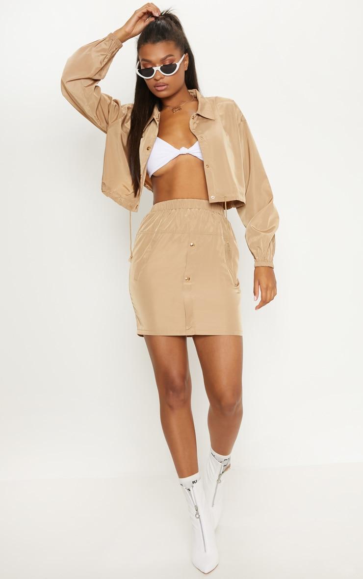 Camel Shell Suit Mini Skirt  5