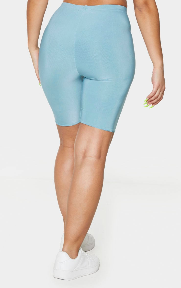 Mint Slinky High Waisted Cycle Shorts 3