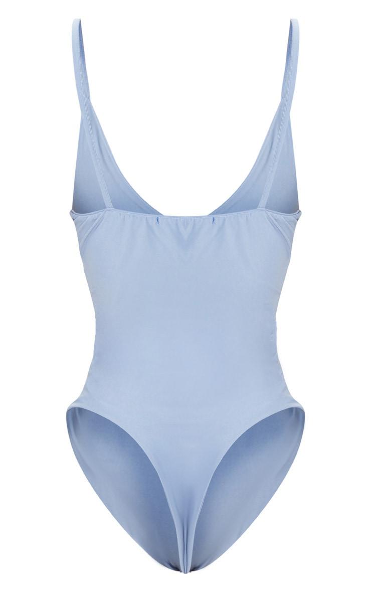 Shape Dusky Blue Slinky Double Layer Bodysuit 4
