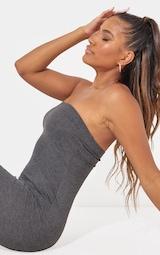 Charcoal Grey Basic Bandeau Midaxi Dress 5