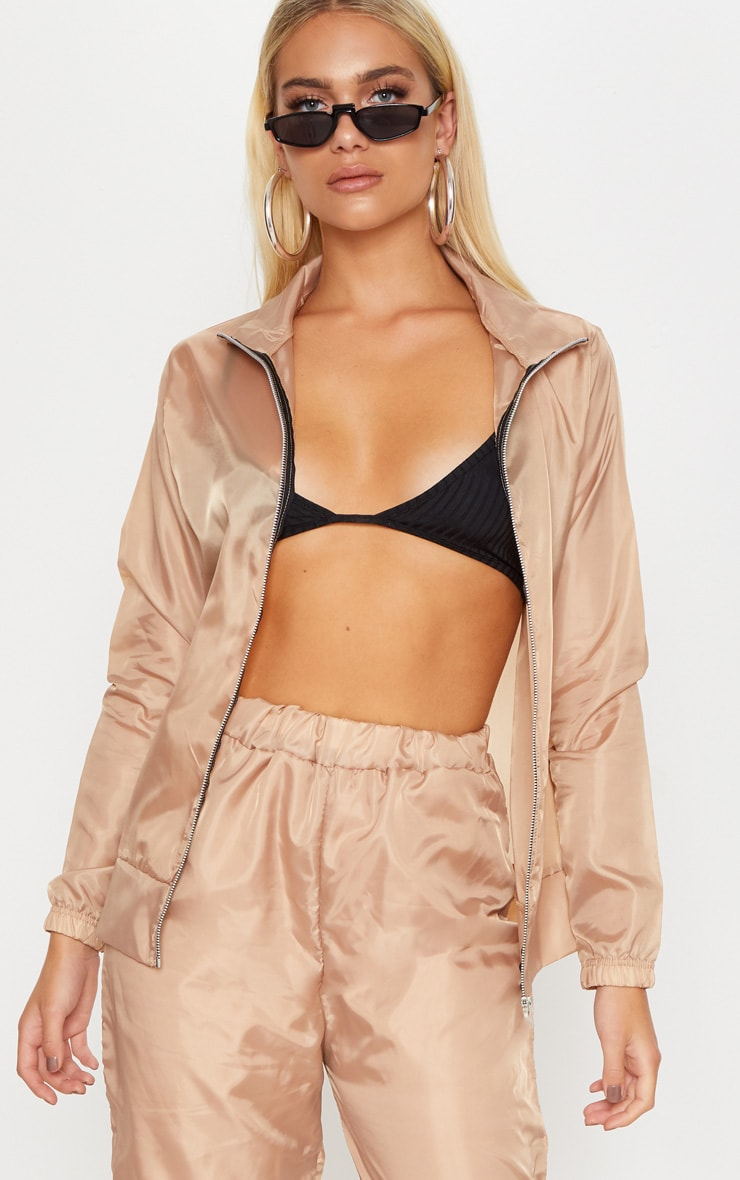 Dusty Pink Shell Zip Up Jacket 1