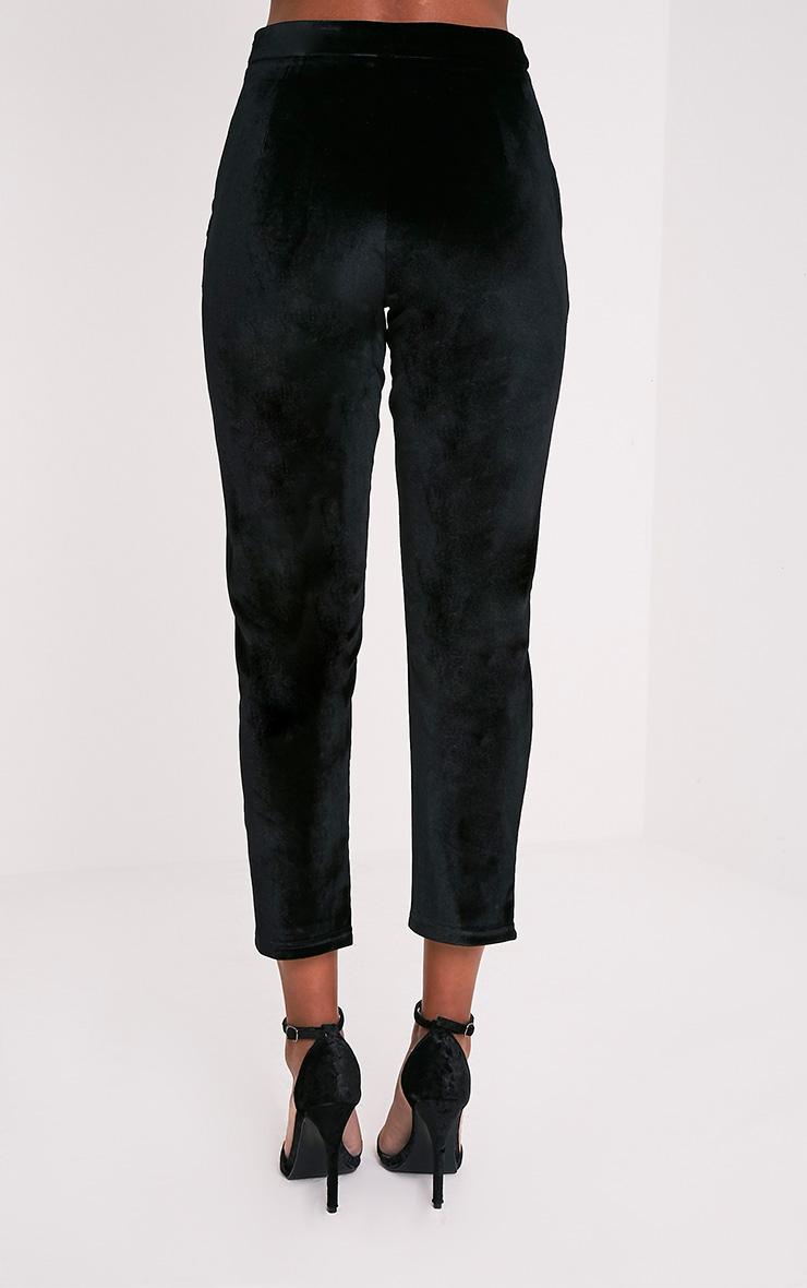 Tasmine pantalon cigarette noir en velours 5