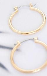 Gold Mini Hoop Earrings 3