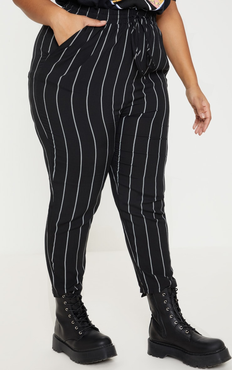 Plus Pin Stripe Casual Pants 2
