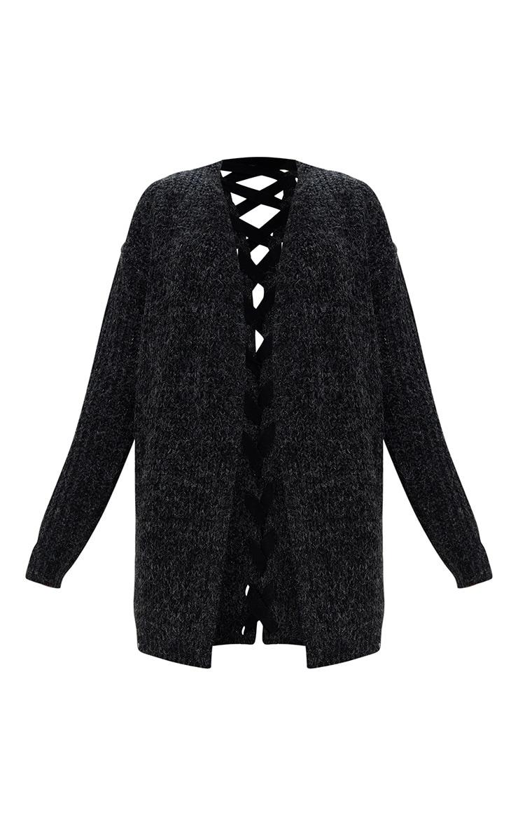 Black Lace Tie Back Cardigan 3