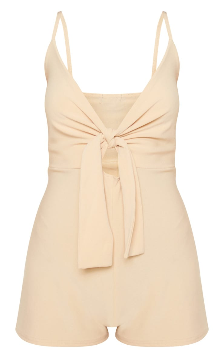 Stone Knot Detail Plunge Strappy Romper 3