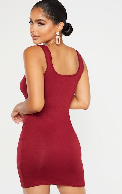 Petite Scarlet Jersey Mini Dress