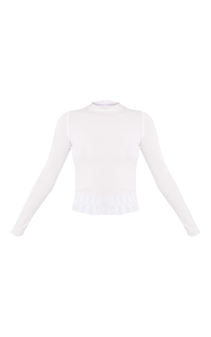 Julieanne Cream Frill Edge Longsleeve Top 3