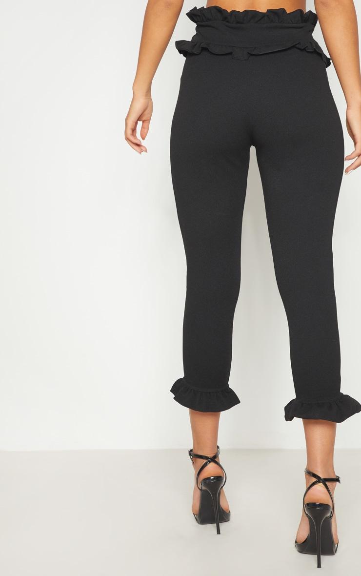 Keren Black Frill Hem Pants 4