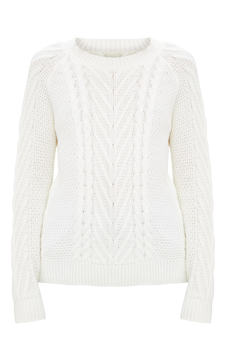 Cream Cable Knit Jumper 2