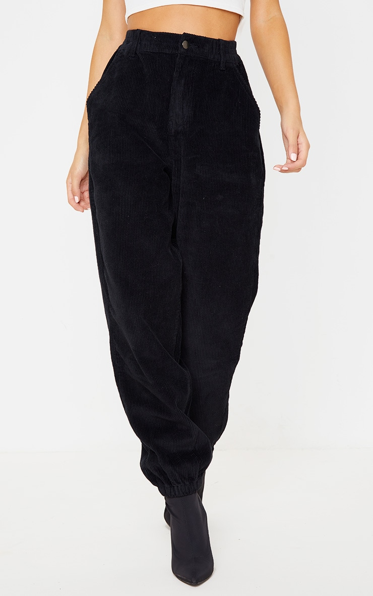 Black Cord Balloon Jeans 2