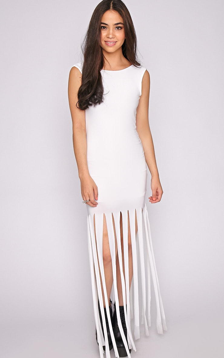 Laurel White Tassel Maxi Dress 3