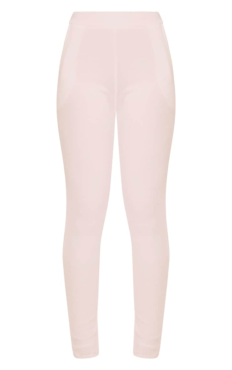 Sage Pink Crepe Cigarette Trousers 3