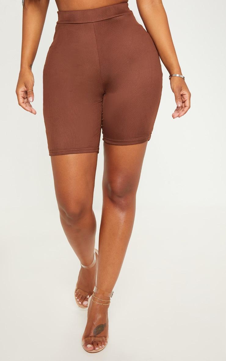 Shape Chocolate Brown Mesh Cycling Shorts 2