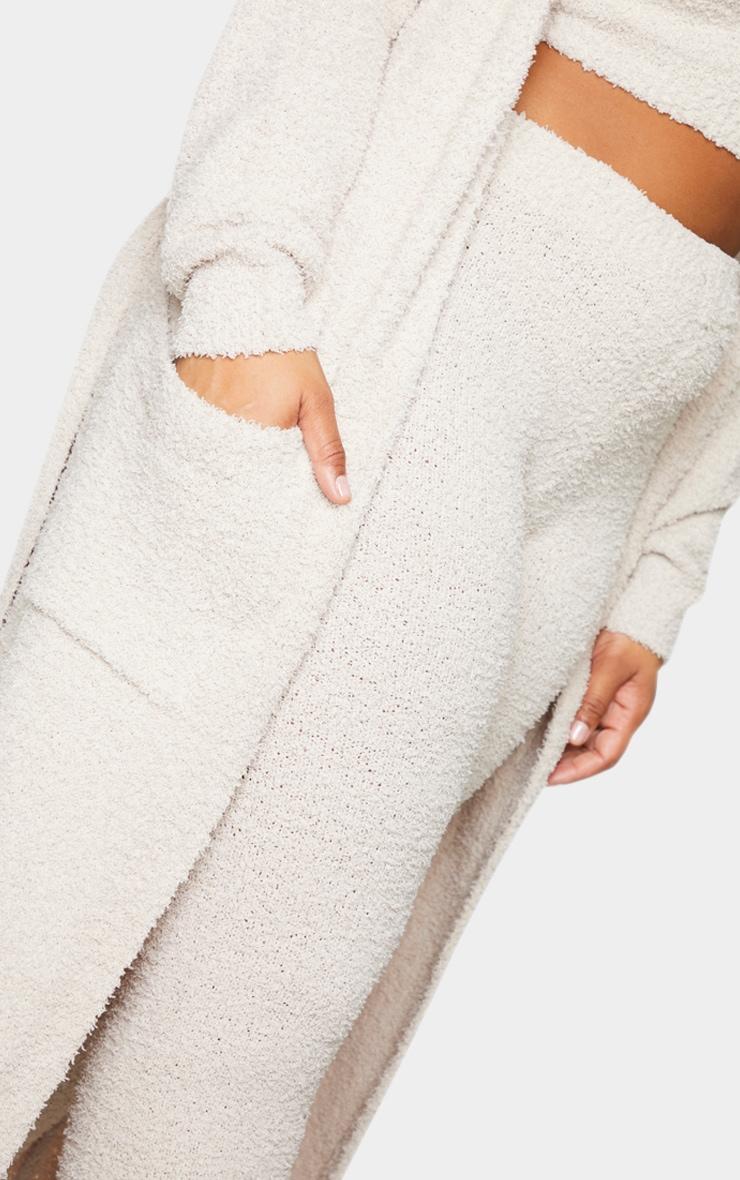 Plus Stone Chenille Longline Belted Pocket Detail Cardigan 4