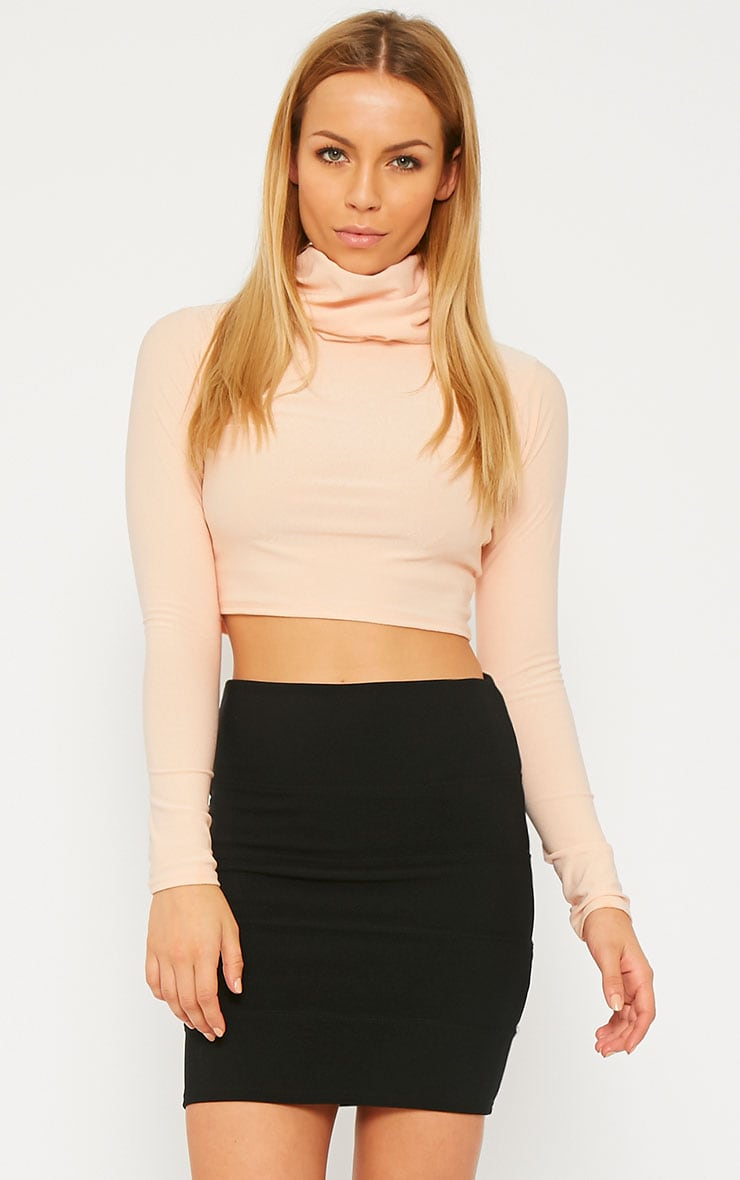 Anel Black Bandage Mini Skirt  1