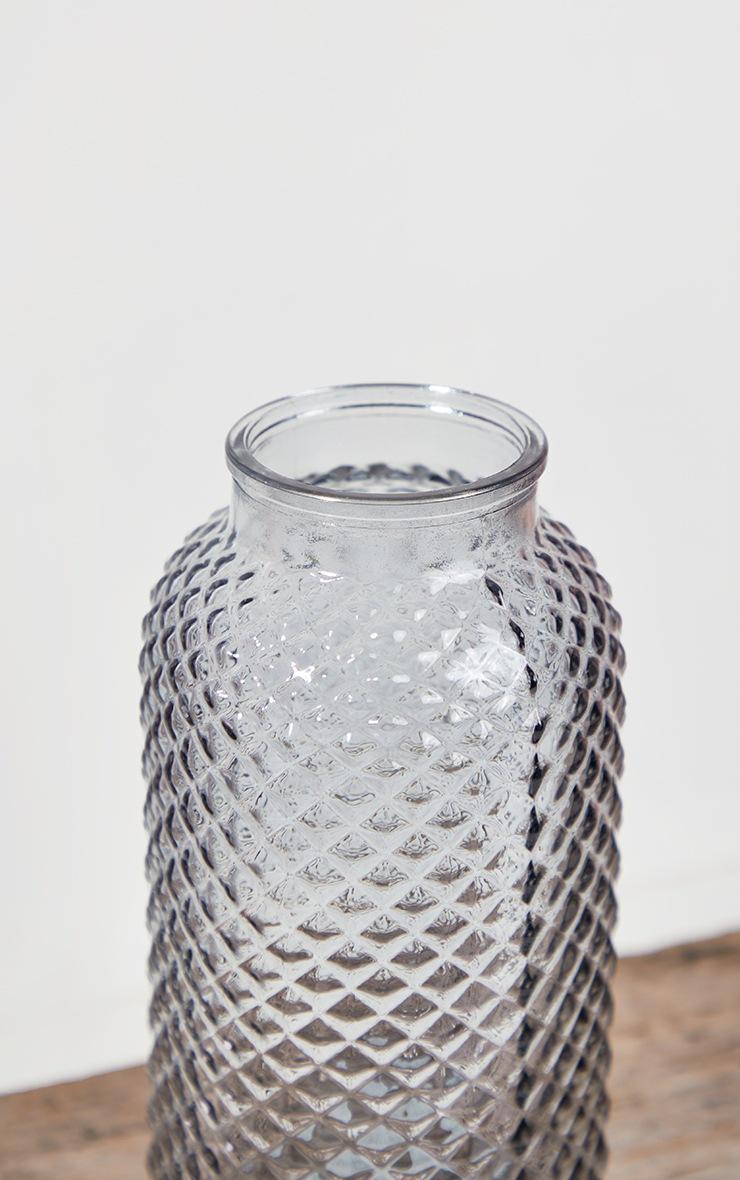 Grey Diamond Textured Tube Vase 5
