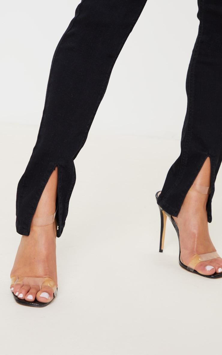 Petite Black Split Front Skinny Jean 5