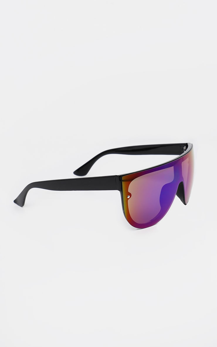 Multi Colour Revo Lens Oversized Visor Sunglasses 2
