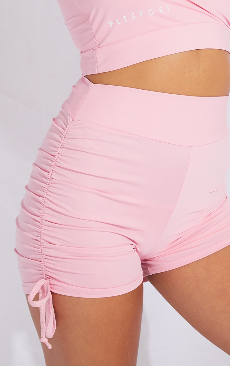 Pink Ruched Side Booty Short 5