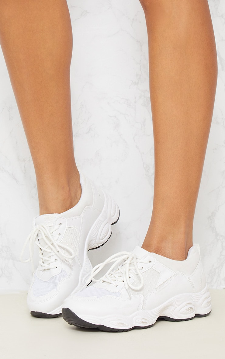White Chunky Sneakers 3